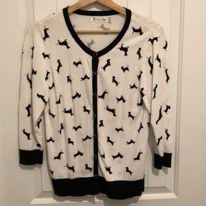 New York & Company Sweaters - NY&Co Dachshund Cardigan Medium